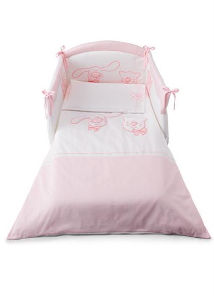 Cicci e Coco textilszett – rózsaszín-1